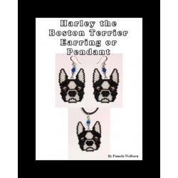 Harley the Boston Terrier Beading Pattern