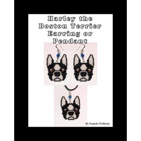 Harley the Boston Terrier Beading Pattern
