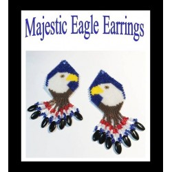 Majestic Eagle Earring Patterns Chart