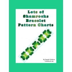 Lots of Shamrocks Bracelet Bead Pattern Chart