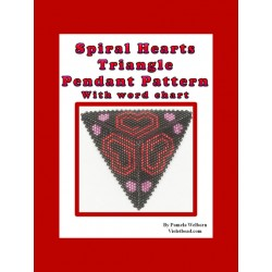 Spiral Hearts Triangle Pendant with Word Chart