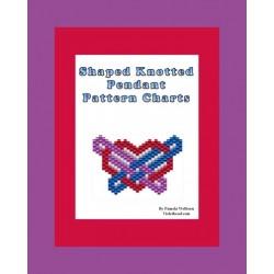 Shaped Knotted Heart Pendant Pattern Chart