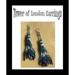 Tower of London Miyuki Tila Bead Earring Tutorial