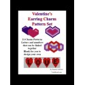 Valentines Hearts Charm Pattern Set Beading Patterns