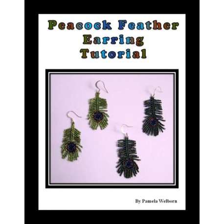 Peacock Feather Beaded Earrings Tutorial