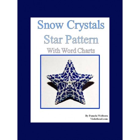 Snow Crystals 3D Star Pendant or Ornament pattern