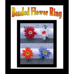 Beaded Flower Ring or Earring Tutorial
