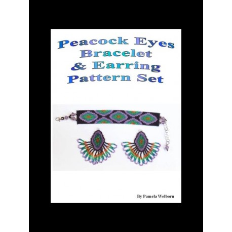 Peacock Eye Bracelet and Earring Patterns set