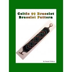Larks Celtic Knot work Bracelet Bead Pattern Chart