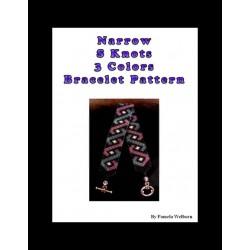 Narrow S Knots in 3 colors Bracelet Bead Pattern Chart