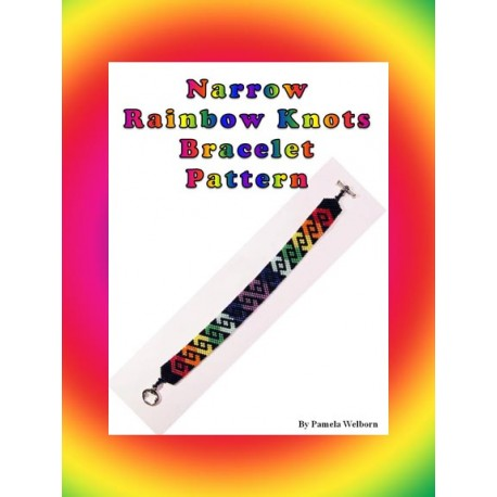 Narrow Rainbow Knots Bracelet Bead Pattern Chart Chart