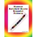 Narrow Rainbow Knots Bracelet Bead Pattern Chart