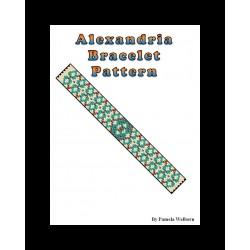 Alexandria Bracelet Bead Pattern Chart
