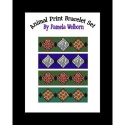 Animal Print Peyote Bracelet Set Beading Patterns
