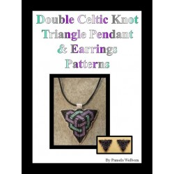 Double Celtic Knotwork Triangle Pendant & Earring Pattern