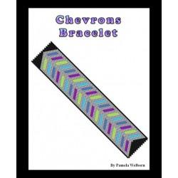 Chevrons Bracelet Bead Pattern Chart