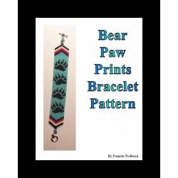 Bear Paw Print Bracelet Bead Pattern Chart