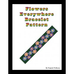 Flowers Everywhere Bracelet Bead Pattern