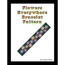 Flowers Everywhere Bracelet Bead Pattern