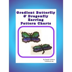 Dragonfly Pendant and Earrings Beading Patterns