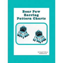 Bear Paw Earring Beading Pattern