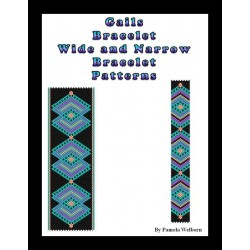 Gails Bracelet - wide and narrow versions Bead Pattern Chart