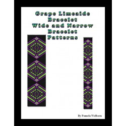 Grape Lime-aide - wide and narrow versions Bead Pattern Chart