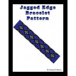 Jagged Edge Bracelet Bead Pattern Chart
