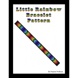 Little Rainbow Bracelet Bead Pattern Chart