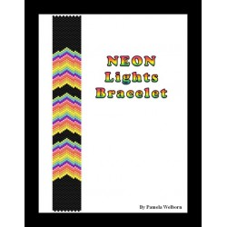 Neon Lights Bracelet Bead Pattern Chart