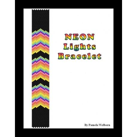 Neon Lights Bracelet Bead Pattern Chart