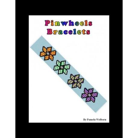 Pinwheels Bracelet Bead Pattern Chart