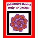 Bead Netted Valentine Hearts Doily or Coaster Tutorial